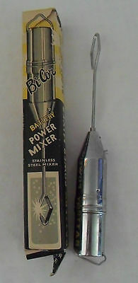 Vintage BI-COR Division Model No. 968 Stainless Steel Travel Battery Power Mixer