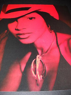 TONI BRAXTON Red Hued PROMO POSTER AD from 2000