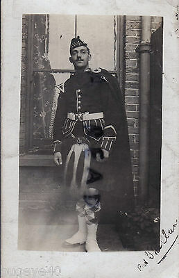 Soldier Piper Patrick Whillan Argyll & Sutherland Highlanders in full dress