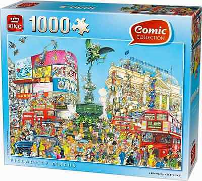 1000 Piece Jigsaw Puzzle - Comic Piccadilly Circus London England 05082