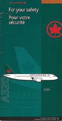 Safety Card - Air Canada - A320 - c2002  (S3667)