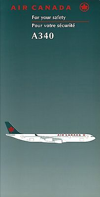 Safety Card - Air Canada - A340 - 1998  (S3668)