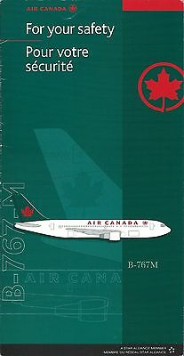 Safety Card - Air Canada - B767M - c2002  (S3671)