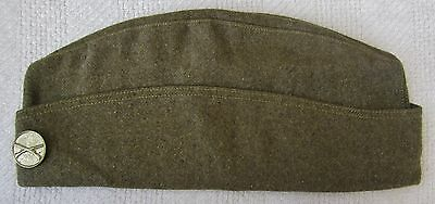ORIGINAL WW1 US ARMY OVERSEAS CAP / HAT with INFANTRY COLLAR DISK Type II