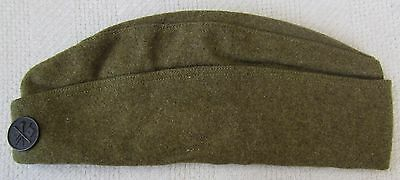 ORIGINAL WW1 Vintage US ARMY OVERSEAS CAP / HAT with SIGNAL CORPS COLLAR DISK