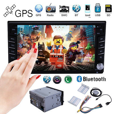 6.2'' Double 2DIN Car CD DVD Player Radio Stereo In Dash GPS NAV Bluetooth TV SD