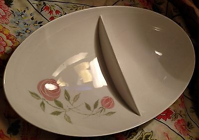 Franciscan pink a dilly mid century small oval separated bowl great condition!
