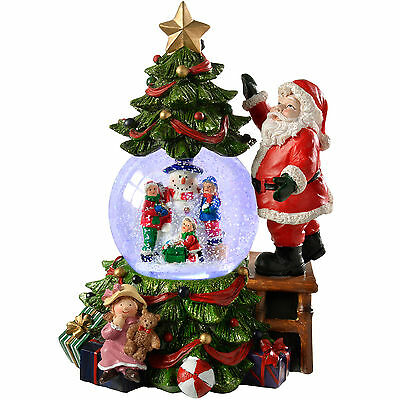 23cm Christmas Tree and Globe Colour Changing Christmas Decoration