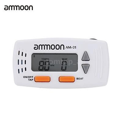 ammoon AM-01 Clip-on 2-in-1 Electronic Metronome & Clock Multifunction New Z9A8