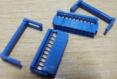 10 x Dupont 66564-920 20 way IDC ribbon cable socket