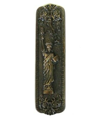 Push Plate Statue of Liberty Bronze Door Hardware Vintage Restoration Replica