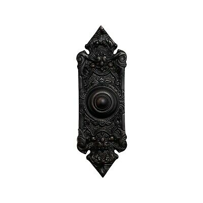 "Antique Replica Bronze Over Brass Door Bell Button Victorian Style 7.5"" Tall"