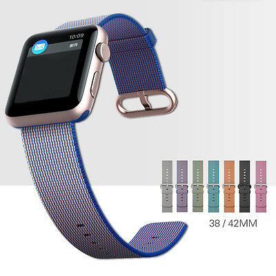 For Apple Watch/Sports/Edition 38/42mm!Royal Woven Nylon Bracelet Wrist Band