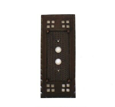 Arts and Crafts Mission or Bungalow Bronze Single Push Button Switch Plate