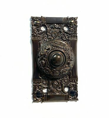 Victorian Electric Bronze Door Bell Push Button Antique Replica Oil Rubbed