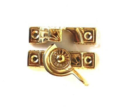 Victorian Window Sash Lock in Solid Brass Old Style Restoration Hardware Latch