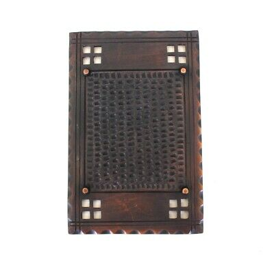Arts and Crafts Two Gang Blank Switch Plate - Mission Bronzed Brass