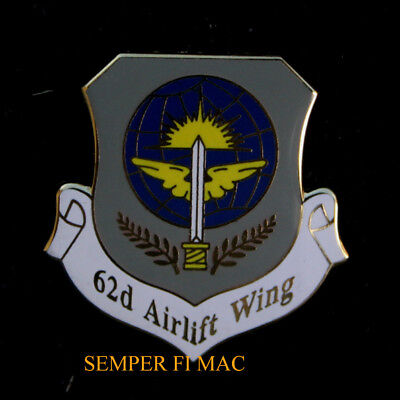 62Nd Airlift Wing Aw Hat Pin Up Us Air Force Usaf Mccord Afb C17 18Th Af Amc Mlw