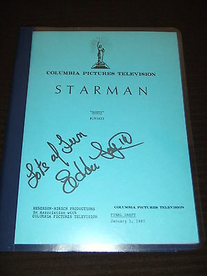 "RARE 1987 Starman TV Script Ep ""Dusty"" Robert Hayes ABC Columbia SIGNED FOY III"