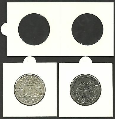 COIN HOLDERS 2 x 2 Self Adhesive 30mm Size suits 20c & 2/- x 50