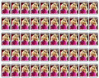 "50 Miss Piggy Envelope Seals / Labels / Stickers, 1"" by 1.5"""