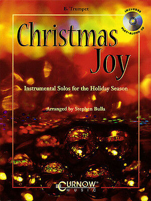 Christmas Joy for Trumpet Solo Sheet Music Play-Along Curnow Book CD Pack NEW