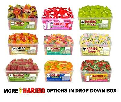 Haribo Full 1 Tub Box Of Sweets  Candy Box Birthday Party Favours Treats Kids