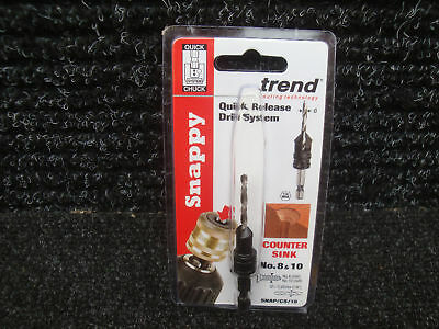 "Trend Snappy Hss Drill Countersink With 1/4"" Hex Shank Snap/cs10 8 & 10"