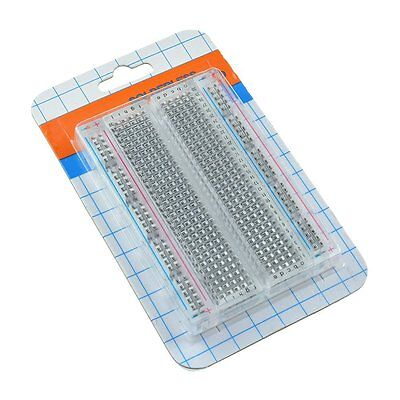 1/2/5/10 PCS Mini Universal Clear Solderless Breadboard 400 Contacts Tie-points