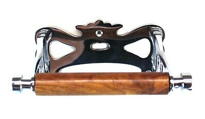 Chrome Wall Mounted Toilet Paper Holder vintage old Style Antique Replica