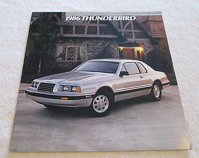 Vintage 1986 Ford THUNDERBIRD Color Sales Catalog Brochure Car Automobile Auto