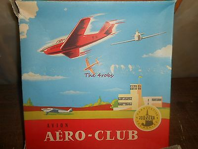 Vintage Joustra Avion Aero Club Tin Friction Airplane in Box France Near Mint
