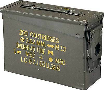 US Army Munitions Kiste AMMO BOX STEEL M19A1 CAL.30 Behälter oliv