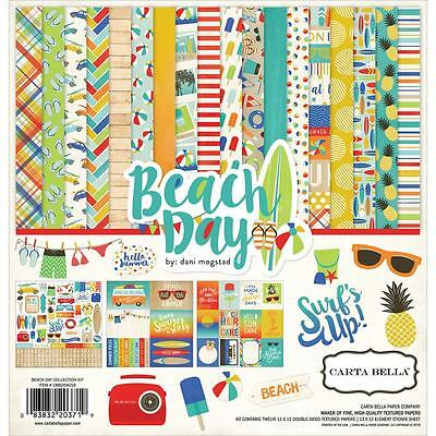 Carta Bella ~ BEACH DAY ~ 12x12 Collection Kit ~ Summer