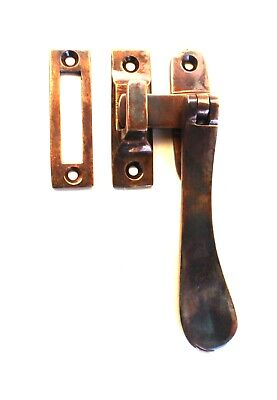 Lovely Brass Window Casement lock latch set with Flat Handle AGED