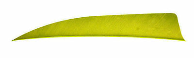 """Trueflight 4"""" Shield Cut Left Wing Feather Chartreuse 100 Pack"""