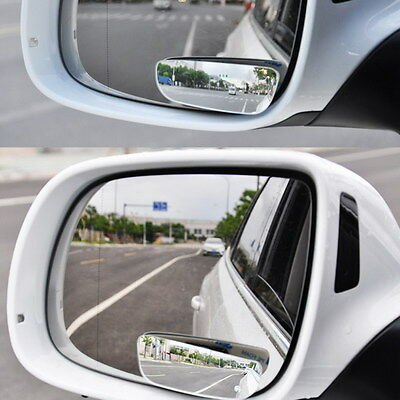 2pcs Universal Car Rear View Blind Spot Mirror Convex Adjustable 360° Wide Angle