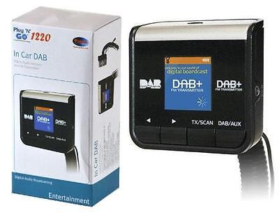 New Pama Plug & Play Car Dab Digital Radio Adapter & Fm Transmitter + Aux In/out