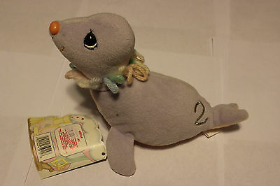 Circus Birthday Train Seal 2 Years Precious Moments Tender Tails Plush New 1999
