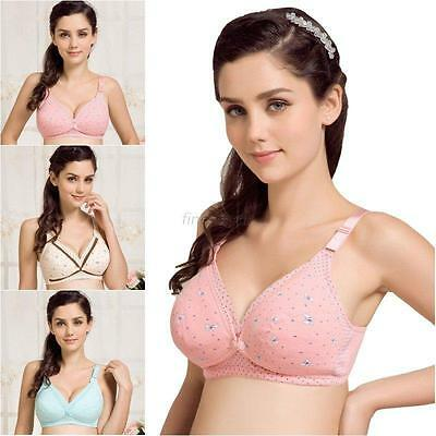 Women Ladies Nursing Bra Front Buckle Breastfeeding Bra Maternity Pregnant Bra