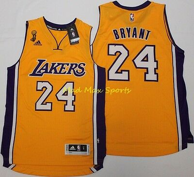 KOBE BRYANT Los Angeles Lakers NBA FINALS Gold THROWBACK Swingman Jersey S-2XL