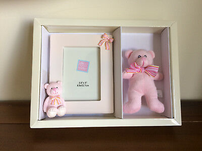 RUSS New Baby Girl Pink Teddy Bear & Photo Frame/Gift