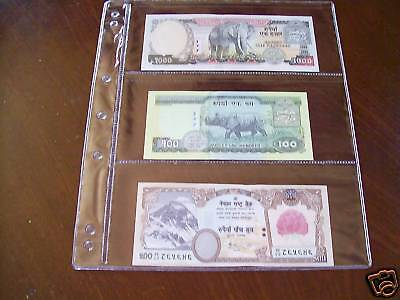 VST BANKNOTE ALBUM PAGES Pack of 10 x 3 POCKET PAGES
