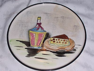 Vintage Retro Kitsch 60's Japanese Ceramic Hand Painted Cheese Platter
