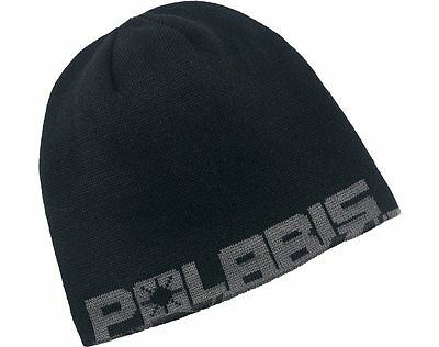 OEM Polaris Racing Grey & Black Youth Reversible Printed Beanie Winter Hat