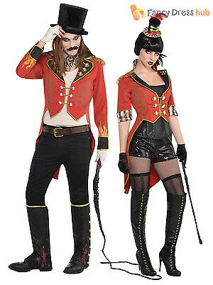 Adult Ringmaster Tailcoat Men Ladies Circus Halloween Fancy Dress Costume Outfit