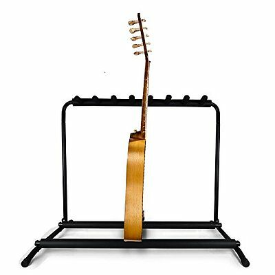 Pyle PGST43 Guitar Stand, Multi-Instrument Floor Stand Rack - Rubber Padding