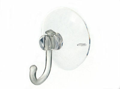 NEW CLEAR PLASTIC WINDOW HOOK / PEG WITH SUCTION SUCKER SIZE 45MM ( pack 20 )
