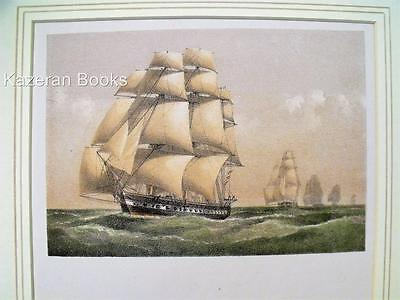 Antique Colour Lithographic Print HMS Narcissus Victorian Ships Royal Navy
