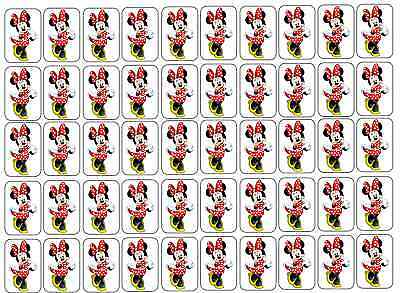"""50 Minnie Mouse Envelope Seals / Labels / Stickers, 1"""" by 1.5"""""""